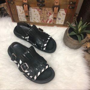 MARNI Fussbet Tassel Slingback Leather Sandals